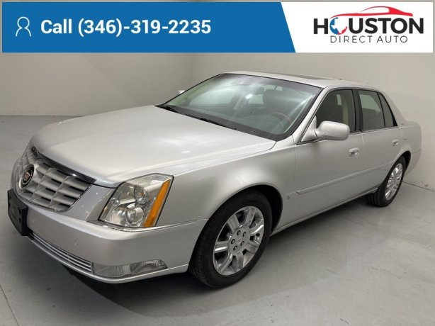 Used 2009 Cadillac DTS for sale in Houston TX.  We Finance!