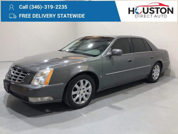 Used 2008 Cadillac DTS for sale in Houston TX.  We Finance!