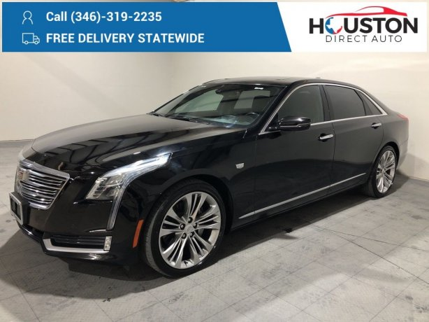 Used 2016 Cadillac CT6 for sale in Houston TX.  We Finance!