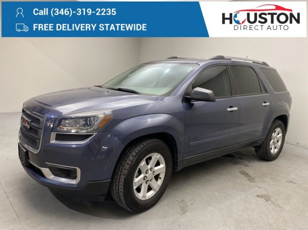 Used 2013 GMC Acadia for sale in Houston TX.  We Finance!
