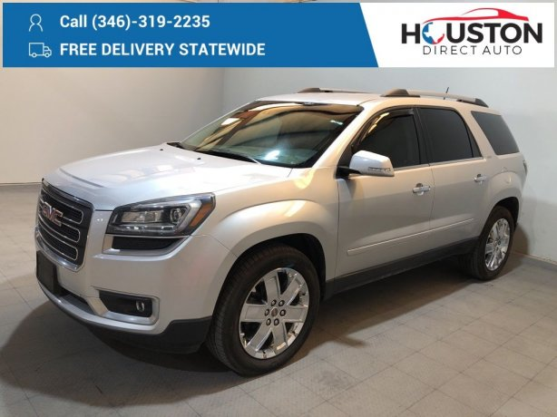 Used 2017 GMC Acadia Limited for sale in Houston TX.  We Finance!