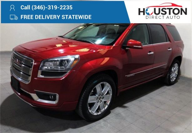 Used 2014 GMC Acadia for sale in Houston TX.  We Finance!