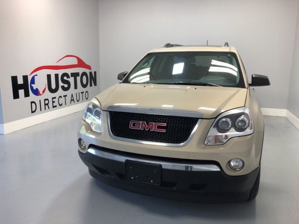 Used 2012 GMC Acadia for sale in Houston TX.  We Finance!