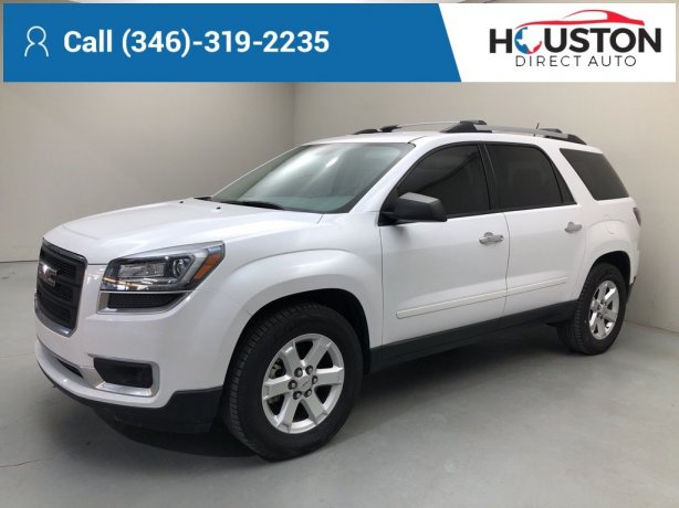 Used 2016 GMC Acadia for sale in Houston TX.  We Finance!