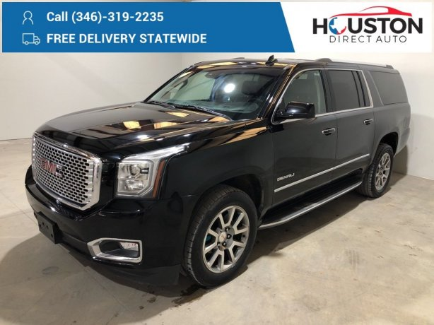 Used 2016 GMC Yukon XL for sale in Houston TX.  We Finance!