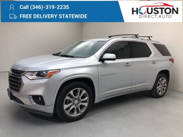Used 2018 Chevrolet Traverse for sale in Houston TX.  We Finance!