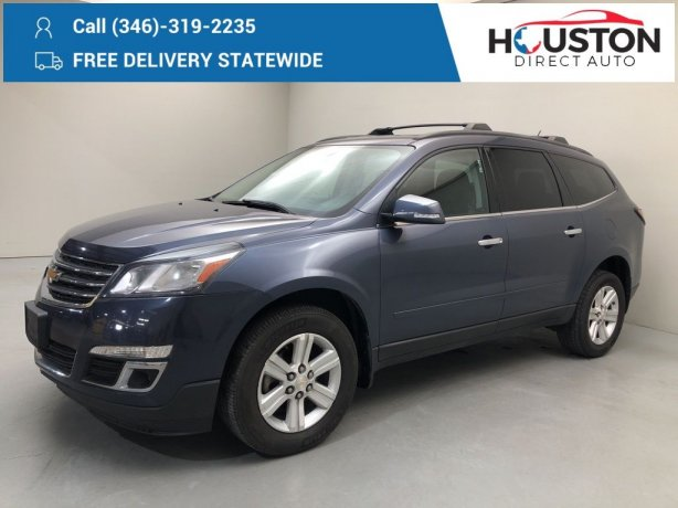Used 2014 Chevrolet Traverse for sale in Houston TX.  We Finance!