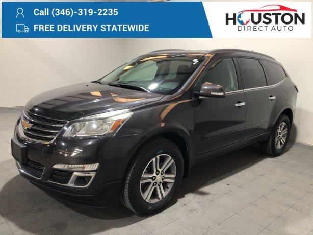 Used 2016 Chevrolet Traverse for sale in Houston TX.  We Finance!