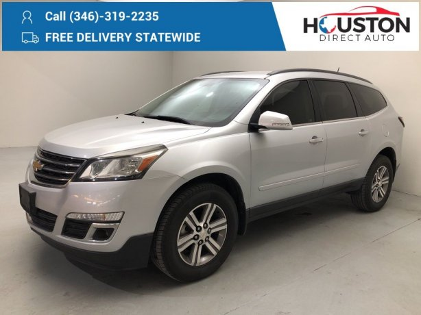 Used 2017 Chevrolet Traverse for sale in Houston TX.  We Finance!