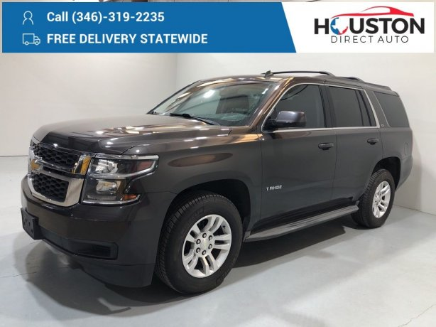Used 2015 Chevrolet Tahoe for sale in Houston TX.  We Finance!
