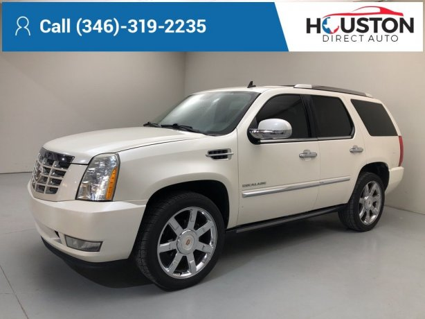 Used 2012 Cadillac Escalade for sale in Houston TX.  We Finance!