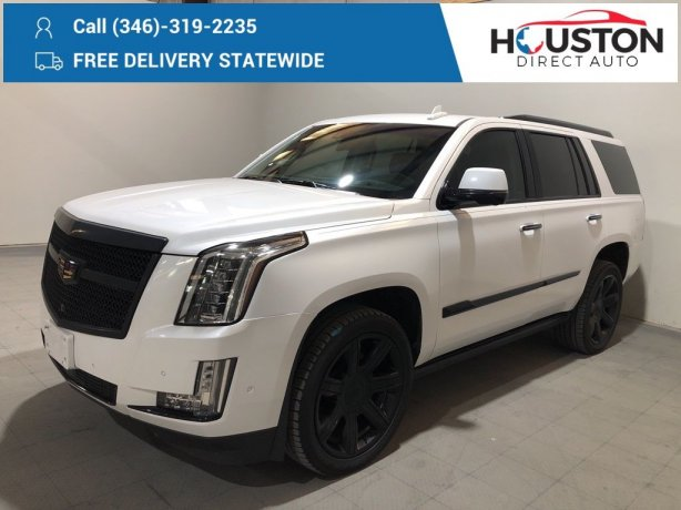 Used 2018 Cadillac Escalade for sale in Houston TX.  We Finance!