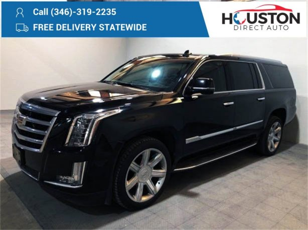 Used 2016 Cadillac Escalade ESV for sale in Houston TX.  We Finance!