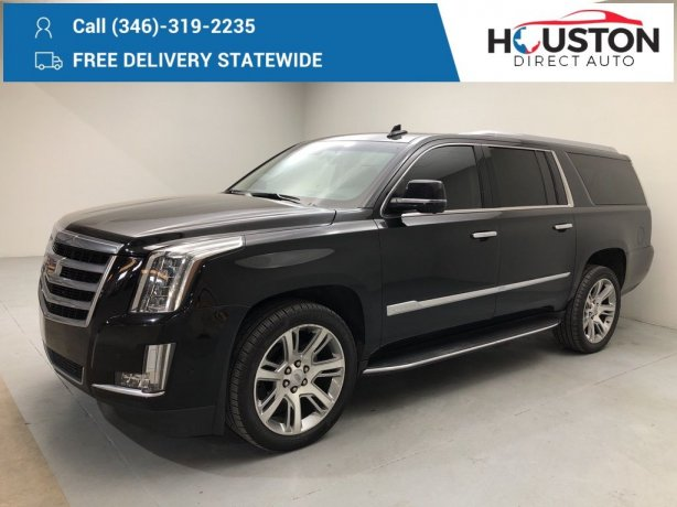 Used 2018 Cadillac Escalade ESV for sale in Houston TX.  We Finance!