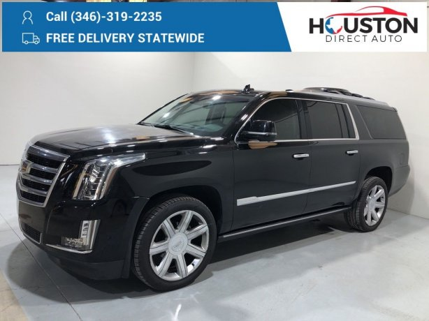 Used 2017 Cadillac Escalade ESV for sale in Houston TX.  We Finance!