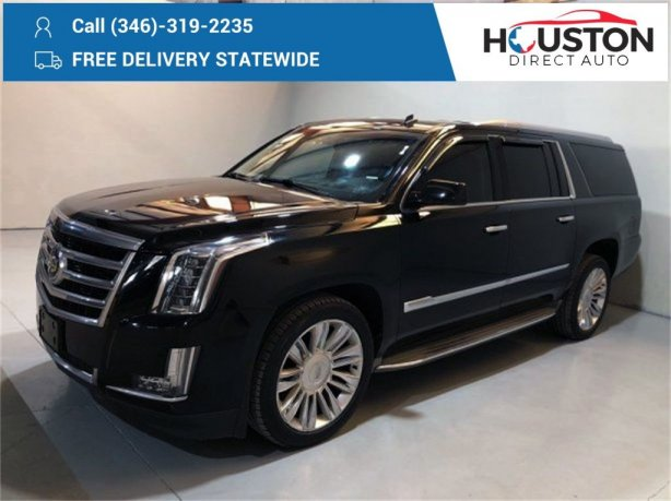 Used 2015 Cadillac Escalade ESV for sale in Houston TX.  We Finance!