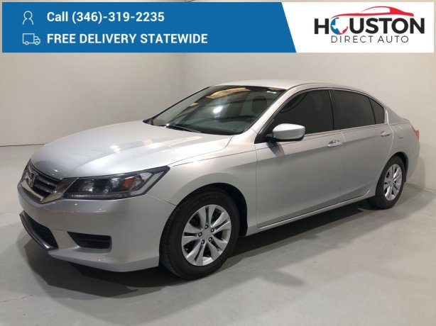 Used 2015 Honda Accord for sale in Houston TX.  We Finance!