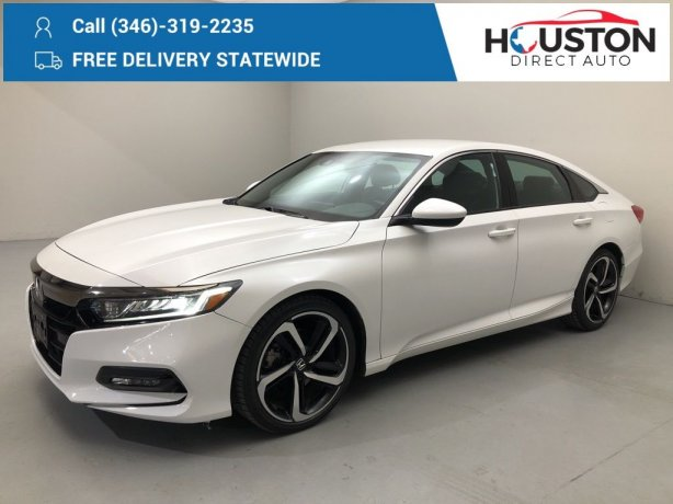Used 2018 Honda Accord for sale in Houston TX.  We Finance!