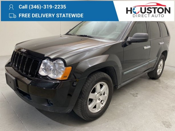 Used 2009 Jeep Grand Cherokee for sale in Houston TX.  We Finance!