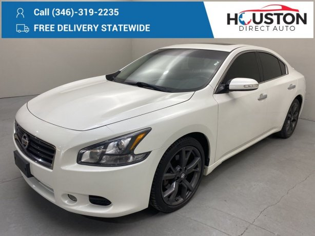 Used 2014 Nissan Maxima for sale in Houston TX.  We Finance!