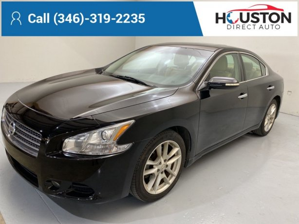 Used 2011 Nissan Maxima for sale in Houston TX.  We Finance!