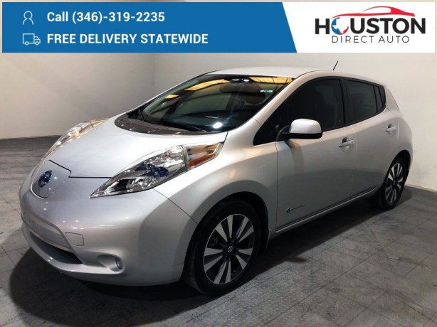 Used 2016 Nissan Leaf for sale in Houston TX.  We Finance!