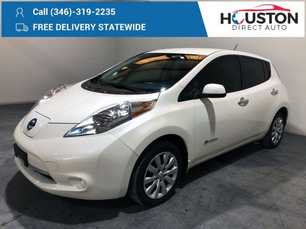 Used 2017 Nissan Leaf for sale in Houston TX.  We Finance!