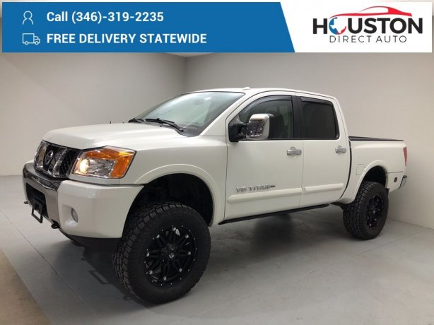 Used 2015 Nissan Titan for sale in Houston TX.  We Finance!
