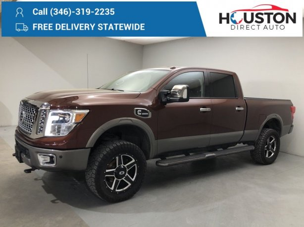 Used 2016 Nissan Titan XD for sale in Houston TX.  We Finance!