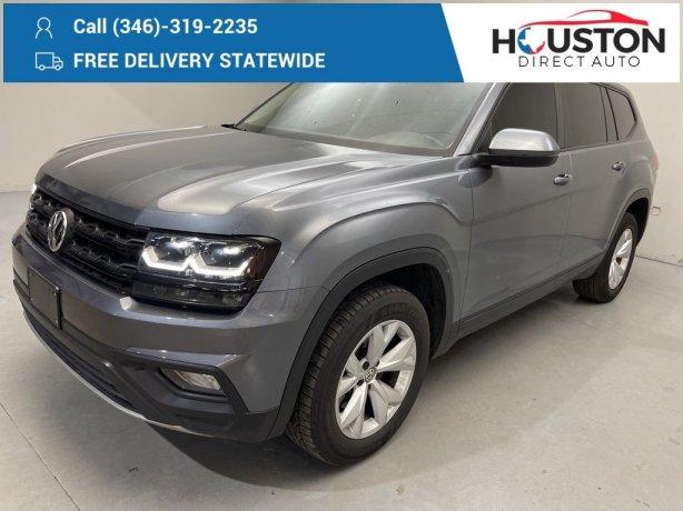Used 2018 Volkswagen Atlas for sale in Houston TX.  We Finance!
