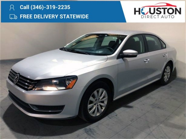 Used 2012 Volkswagen Passat for sale in Houston TX.  We Finance!