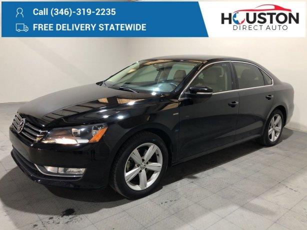 Used 2015 Volkswagen Passat for sale in Houston TX.  We Finance!
