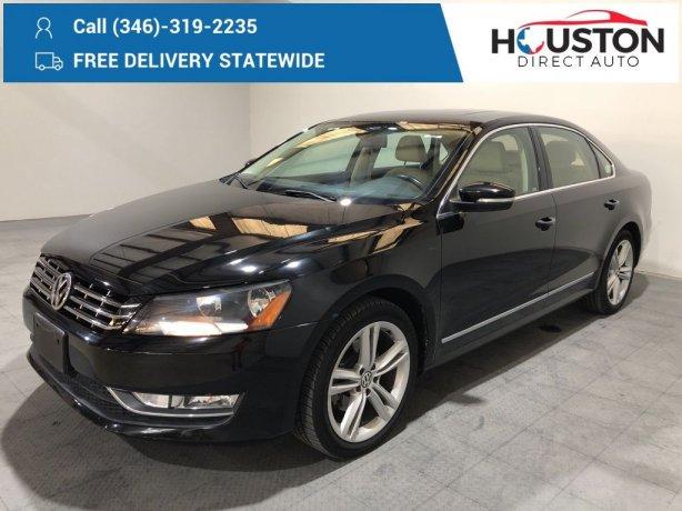 Used 2014 Volkswagen Passat for sale in Houston TX.  We Finance!
