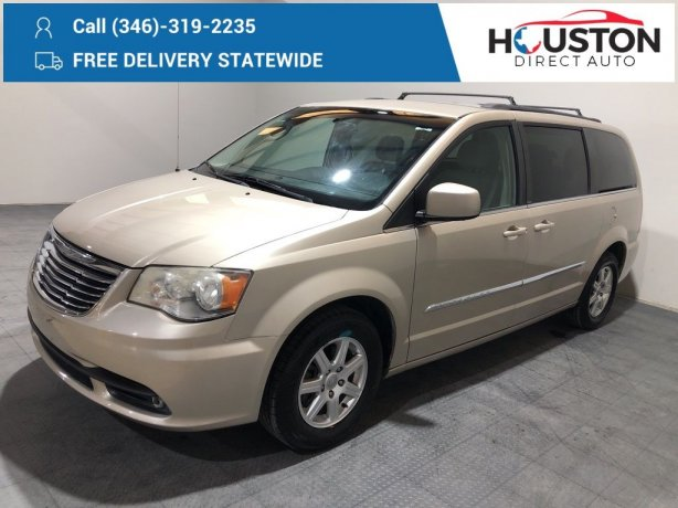 Used 2013 Chrysler Town & Country for sale in Houston TX.  We Finance!