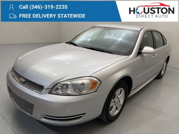 Used 2014 Chevrolet Impala Limited for sale in Houston TX.  We Finance!