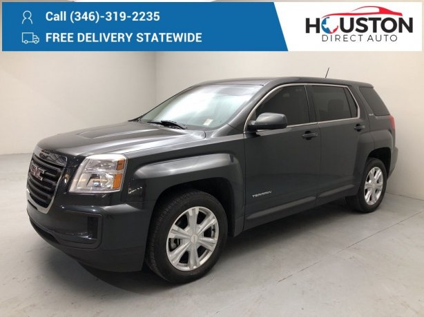 Used 2017 GMC Terrain for sale in Houston TX.  We Finance!