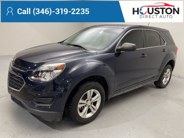Used 2016 Chevrolet Equinox for sale in Houston TX.  We Finance!