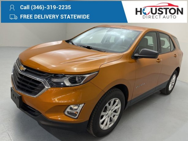 Used 2018 Chevrolet Equinox for sale in Houston TX.  We Finance!