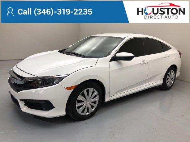 Used 2018 Honda Civic for sale in Houston TX.  We Finance!