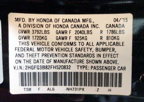 Honda 2015 for sale near me
