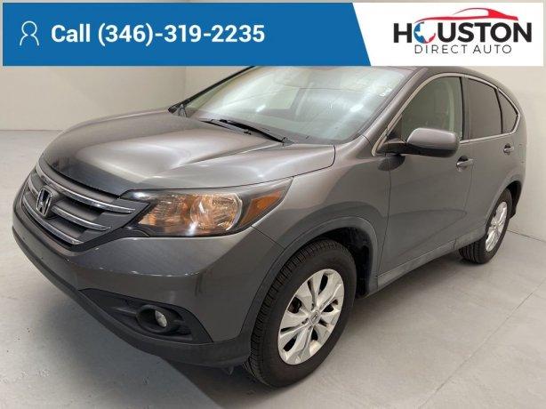 Used 2012 Honda CR-V for sale in Houston TX.  We Finance!