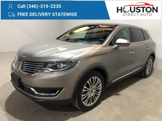 Used 2017 Lincoln MKX for sale in Houston TX.  We Finance!