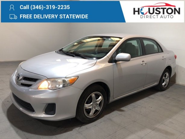 Used 2011 Toyota Corolla for sale in Houston TX.  We Finance!