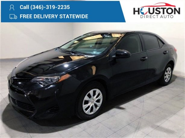 Used 2018 Toyota Corolla for sale in Houston TX.  We Finance!