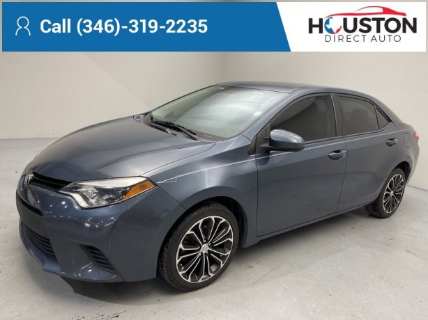 Used 2015 Toyota Corolla for sale in Houston TX.  We Finance!