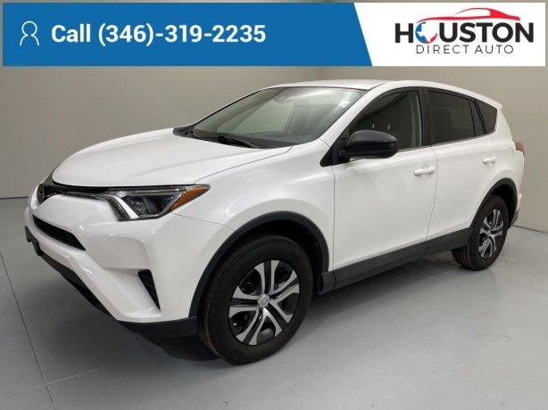 Used 2018 Toyota RAV4 for sale in Houston TX.  We Finance!