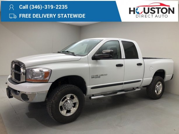 Used 2006 Dodge Ram 2500 for sale in Houston TX.  We Finance!
