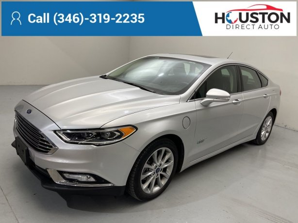Used 2017 Ford Fusion Energi for sale in Houston TX.  We Finance!