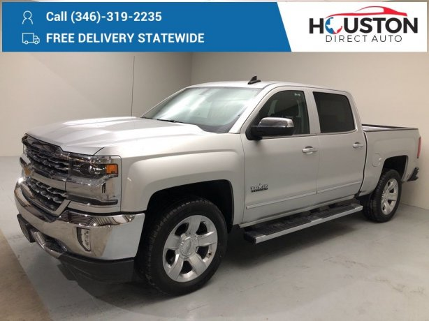 Used 2018 Chevrolet Silverado 1500 for sale in Houston TX.  We Finance!
