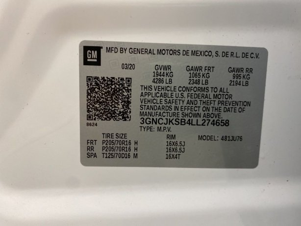 Chevrolet Trax 2020 for sale